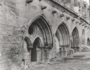 1930 An original photo of Santa Maria de Ovila monastery in Spain