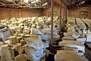Sacred Stones in warehouse storage, Vina, California