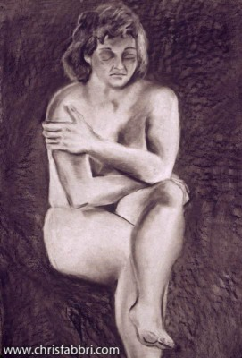 1996 Cold, charcoal on paper 40″x30″