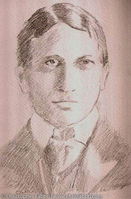 2009 William Randolph Hearst, (RIP 1863-1951) pencil on paper 14″x11″ New Clairvaux art collection