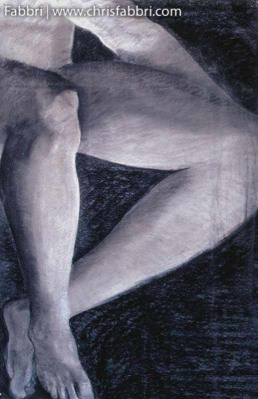 1996 Legs, pastel and charcoal on paper 40″x30″ (SOLD)