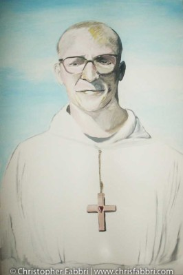 2009 Dom Eusebius Wagoner, first Abbot of New Clairvaux Abbey, acrylic on canvas 36″x24″