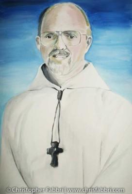 2009 Thomas X. Davis, third Abbot of New Clairvaux Abbey, acrylic on canvas 36″x24″