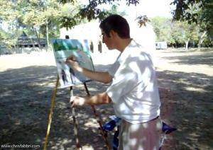 Chris painting