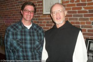2010 Chris Fabbri and Father Paul Mark Schwan, the fourth Abbot of New Clairvaux, Vina, California