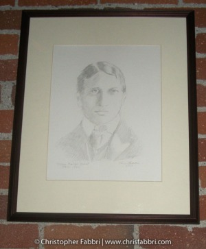 2009 William Randolph Hearst, (RIP 1863-1951), pencil on paper 14″x11″ New Clairvaux art collection