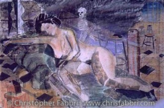 """1996 Dreams in the Studio, pastel and paper collage, 28""""x36"""""""