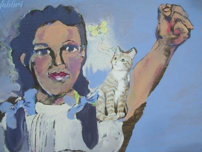 "2013 Dorothy, acrylic on wood 11""x15"""