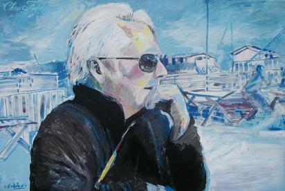 """2013 John O. Wilson, acrylic on canvas 24""""x36"""" •"""