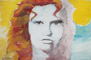2013 Jim Morrison, acrylic on cardboard 8″x12″