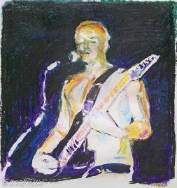 2013 Bradley Nowell, oil and acrylic on paper 22″x22″