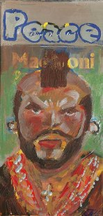 "2014 Mr. T, acrylic on cardboard 7""x4"""