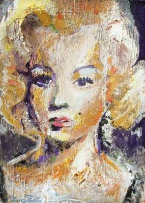 2013 Norma Jean, acrylic on cardboard 10″X6″