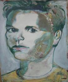 "2014 Adam Yauch, oil and acrylic on canvas 48""x40"""