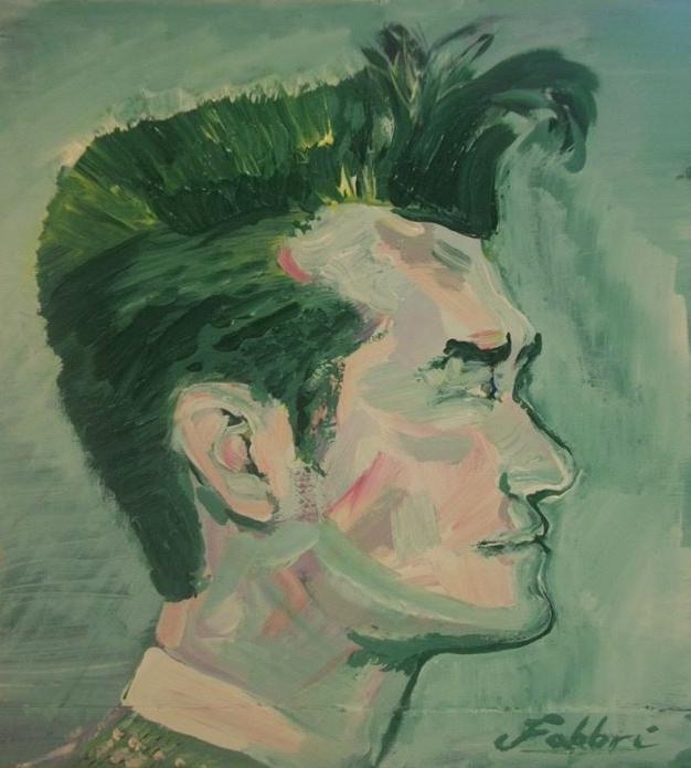 "2015 Morrissey, acrylic on cardboard 11""x10"""