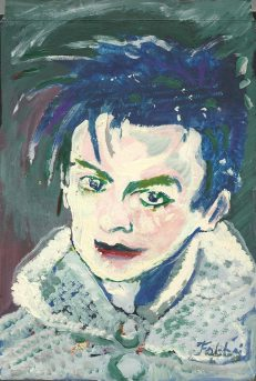 2015 Robert Smith, oil and acrylic on cardboard 11″X8″