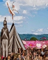 dancer on the teepee of war and peace