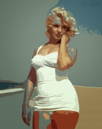 Monroe with cigarette - digital