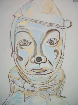 "2015 Tinman, acrylic on wood 34""x28"""