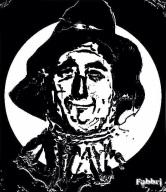 Scarecrow b/w digital