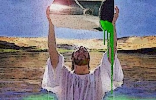 Pour out your Green paint to Jesus
