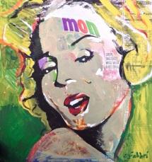 "2015 Monroe Mon, acrylic on cardboard 10""x10"""