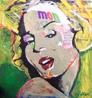 "2015 Monroe, acrylic on cardboard 10""x10"""