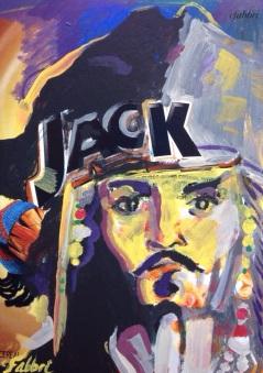 "2015 Capt.Jack, acrylic on cardboard 12""x8"" •"