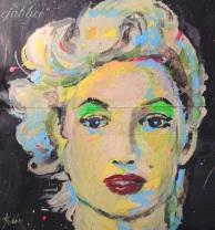"2015 Monroe, acrylic on cardboard 8""x7"""
