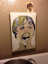psycho janet leigh, acrylic painting