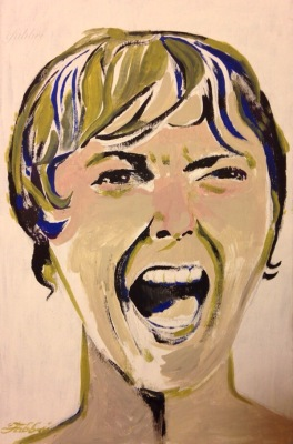 "2015 MARION (JANET LEIGH), acrylic on canvas 13 3/4"" x 9"""