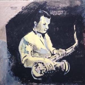 """2015 Stan Getz, acrylic on cardboard 12""""x12"""""""