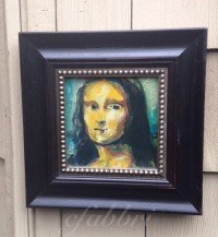 Mona Lisa, framed acrylics painting by Chris Fabbri