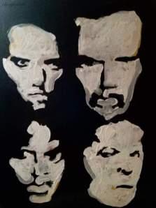 "2016 Metallica, acrylic on cardboard 10""x8"""
