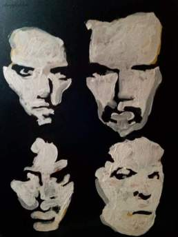 "2016 Metallica, acrylic on cardboard 10""x8"""