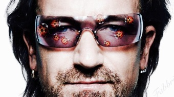 Bono with lady bug glasses