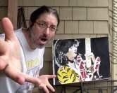 Eddie Van Halen portrait painting by Chris Fabbri 2016