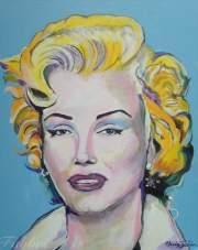 "2016 Marilyn, acrylic on canvas 20""x16"""
