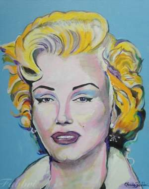 "2016 Marilyn, acrylic on canvas 20""x16"""