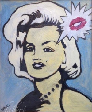 2016 Marilyn's Kiss, acrylic on canvas 24″x20″