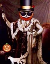 King Cat on Halloween