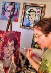 Portrait painting by Chris Fabbri art studio 2016
