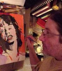 Mick Jagger- Chris Fabbri art studio