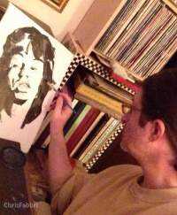 Chris Fabbri art studio- mick jagger