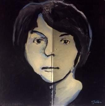 """2016 Paul McCartney, acrylic on cardboard 24""""x24"""""""