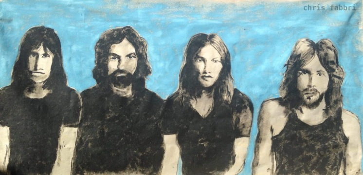 "2016 Pink Floyd, acrylic on canvas 36""x72"""