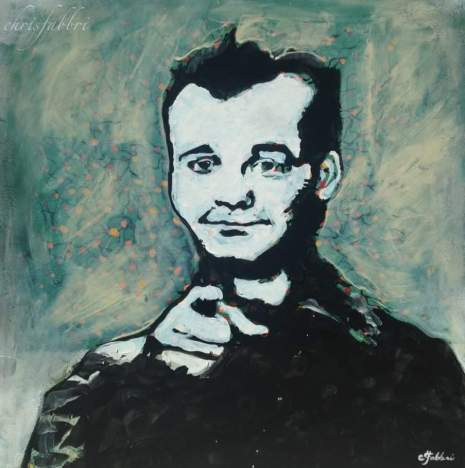 "2016 Bill Murray, acrylic on canvas 24""x24"""
