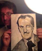 "2016 Vincent Price, acrylic on paper 12 1/2""x8 1/2"""