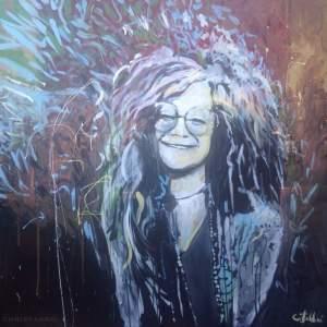 2016 Janis Joplin, acrylic on canvas 32″x32″