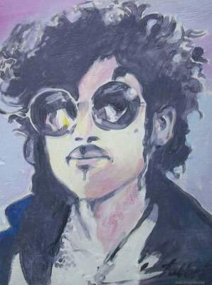 2014 PRINCE, ACRYLIC ON WOOD 24″X18″